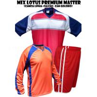 Uniforme Esportivo Kanga Lotus Premium Master + 16 Camisas +16 Calções+ 1 Camisa de Goleiro cortesia