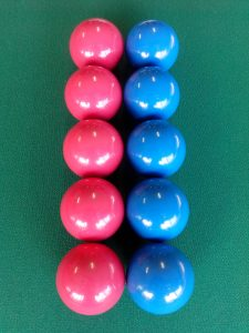 Bola Lisa 54 cm Azul/Vermelha