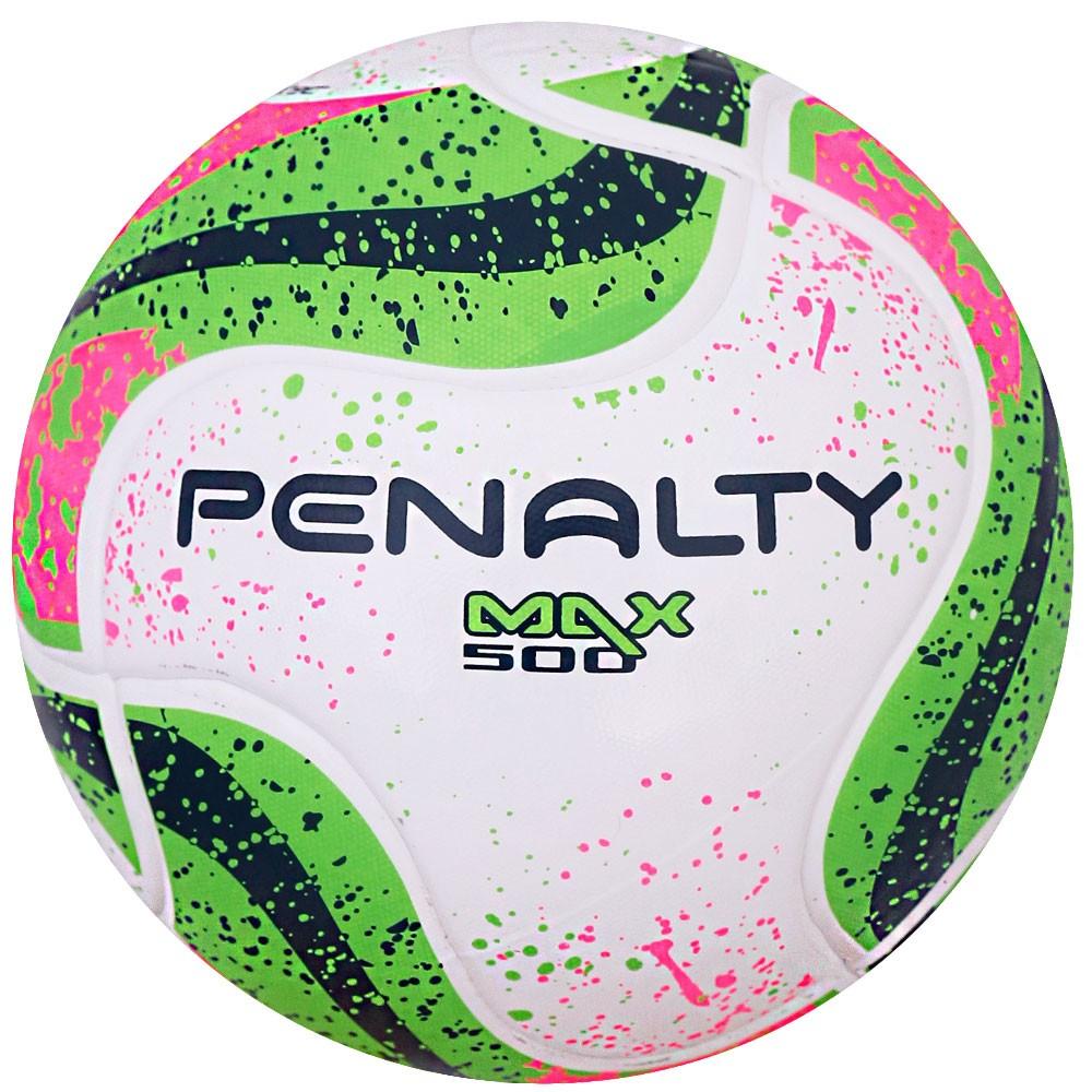 Bola Futsal Penalty Max 500 Termotec 7 – Branco e Verde Claro