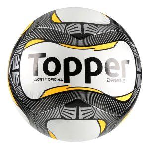 Bola Futebol Society Topper Drible – Branco e Preto